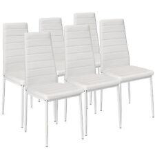 6x Esszimmerstuhl Set Stühle Küchenstuhl Hochlehner Wartezimmer Stuhl weiß neu