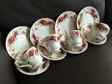 Vintage 12 Piece Paragon Majestic English Fine Bone China Cups, Saucers & Plates
