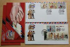 2012 Malaysia Postman's Uniform 3v Stamp & MS on 2 FDC (Kuala Lumpur Cachet)