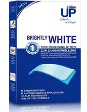 PROFESSIONAL Bright Teeth Whitening Strips Peroxide Free No Slip Technology 28