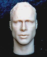 """1/6 scale plastic unpainted action figure head sculpt brad pitt 12"""" hot toys"""