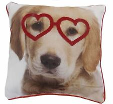 Heart Embroidered Decorative Cushions
