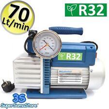 3S POMPA ALTO VUOTO BISTADIO 70 LT min IMPIANTI R32 R1234YF CLIMATIZZATORE NUOVA