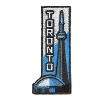 Toronto Ontario Iron On Travel Patch - Sky Dome and CN Tower