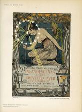 "Original 1897 litho ""Incandescenza"" by Giovanni Mataloni – Das Moderne Plakat"