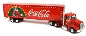 "1/43 COCA-COLA COKE HOLIDAY CHRISTMAS TRUCK & TRAILER 16""/42cm LONG NO LIGHTS!!"