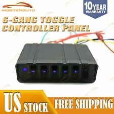 New 12V Switch Box Rocker Emergency Strobe Light 6-Gang Toggle Controller Panel