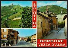 AD0674 Cuneo - Provincia - Saluti da Borbore Vezza d'Alba - Vedute