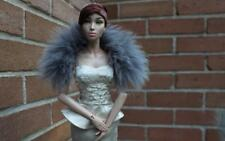 ~Smokey Gray Fox Fur Shoulder Wrap for Sybarite Sydney Gene dolls~ by dimitha~