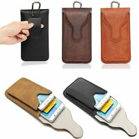 New Leather Belt Loop Clip Holster Pouch Sleeve Universal Cell Phone Case Cover