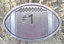 """Football mold 13"""" x 9"""" x 1.25"""" thick  plaster concrete casting mould"""