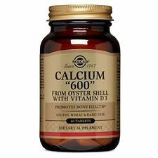 """Solgar Calcium """"600"""" (from oyster shell) with Vitamin D3 60 tablets"""