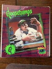 Goosebumps 3 Ring Binder #8 The Girl Who Cried Monster Vintage