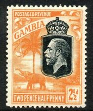 GAMBIA Stamps 1922  SG 127  2½d Orange-Yellow Wmk MSCA  Mounted Mint