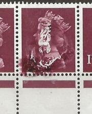 More details for gb flaw (env-68)1997 sgx846 1d strip of with major ink flaw covering 2nd stamp