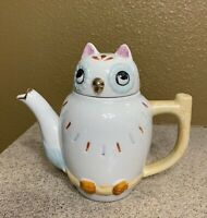 "Vintage Emson 5"" Tall Ceramic Owl Teapot Taiwan-3925"