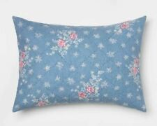 Simply Shabby Chic Lily Rose Chambray Pillow Sham Blue , Standard