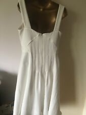 Reiss Pleated Back Jade  midi dress size 12 in ivory