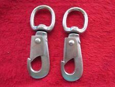 2 Vintage Nos Cast Iron Swivel Snap Hook, Harness Hames Hardware #830