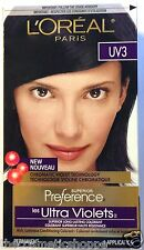 LOreal Paris Superior Preference Hair Dye Color UV3 ULTRA-VIOLET BLACK RARE HTF