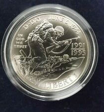 1993 D : 90% Silver Commemorative Liberty Dollar : WWII : D-Day 6th June 1944