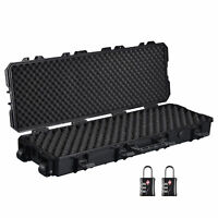 "40"" Rifle Gun Case Portable Waterproof Impact Resistance with TSA Padlock Valve"