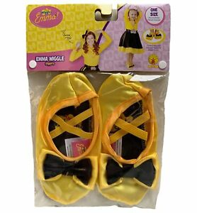 Emma The Wiggles Yellow Book Week Toddler Girls Costume Shoe Slippers 18M & Up