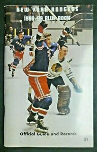 New York Rangers 1968-1969 Blue Book Official Guide