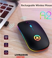 Souris Sans Fil Led Optique Ultra Mince Gamer Mouse Rechargeabe+Usb 4 BOUTONS
