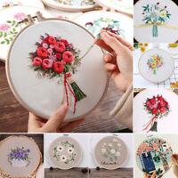 DIY Embroidery Cross Stitch Kit Set For Beginner Starter Handmade Craft Tools