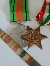 More details for the defence medal and the italy star plus bar and ribbons