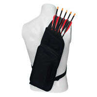 Archery Quiver Arrow Holder Strap Bag Pouch with Rack Shelf Support 5 Arrows