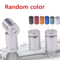 4* Aluminum Bullet Car Truck Air Tire Rim Valve Cover Wheels Stem Caps Silver