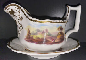 RIDGWAY Gravy Boat Sauce Jug with Underplate.  Excellent condition.