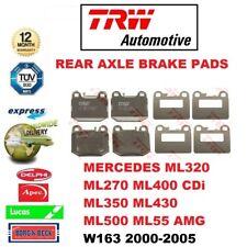 FOR MERCEDES ML320 ML270 ML400 ML350 ML430 ML500 ML55 AMG 2000-> REAR BRAKE PADS