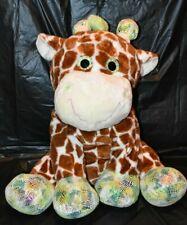 "Giraffe Plush Jumbo 28"" Stuffed Animal Big Eyes Soft Huggable Hugfun"