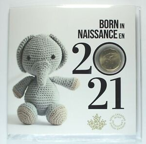 Canada 2021 - Born in Canada Baby Gift Uncirculated Set - Special Hand Loonie
