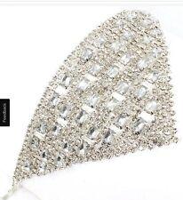 Crystal Clear White Rhinestone Pageant Bracelet Silver Bridal Wedding Formal