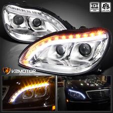 1998-2006 Mercedes Benz W220 S-Class Upper LED DRL Signal Projector Headlights