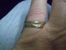 10K Yellow Gold Ladies Men's Design Band Ring 2.7 Grams