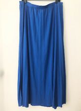 Chicos Blue Pleated Maxi Skirt Women Large Size 2 Defect