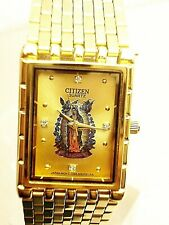 ffec63e8af05d Vintage citizen Guadeloupe mens watch gold tone gold dial .