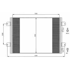 Kondensator Klimaanlage - NRF 35542