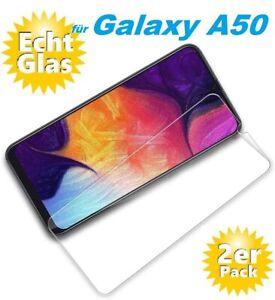 2x Samsung Galaxy A50 Schutzglas 9H Panzerfolie Hart Glas Displayschutz Echt
