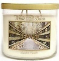 BATH & BODY WORKS WHITE BARN LEAVES 3-WICK CANDLE 14.5 oz NEW! HARD TO FIND!