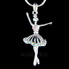 w Swarovski Crystal ~Purple BALLERINA Ballet Crown Necklace The Nutcracker Lover