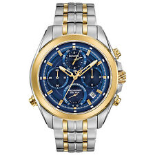 Bulova Precisionist Men's Quartz Uhf Chronograph Two-Tone 44.5mm Watch 98B276