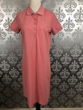 Talbots Woman Peachy Orange Cotton Blend Polo Dress Size X