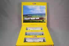 ZQ026 Brawa train Ho 2040 Coffret set 3 Wagon frigorifique DB FS italia NS