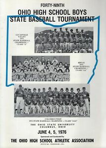 1976 OHIO HIGH SCHOOL STATE BASEBALL TOURNAMENT PROGRAM     VINTAGE+RARE   1976